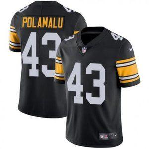 Steelers Troy Polamalu Black  Jersey
